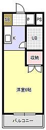 キャンパスシティー弥生[2階]の間取り