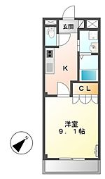 サンライズ桜[1階]の間取り