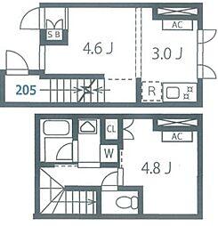 JR山手線 池袋駅 徒歩6分の賃貸マンション 1階1LDKの間取り