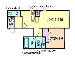 (仮)桜コート2[1階]の間取り