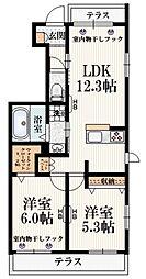 (仮称)福島町3丁目メゾン 1階2LDKの間取り