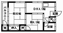 文月荘[103号室]の間取り