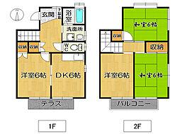 [タウンハウス] 福岡県大野城市旭ケ丘2丁目 の賃貸【/】の間取り