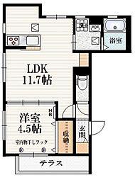 (仮称)柴崎町5丁目Iマンション 1階1LDKの間取り