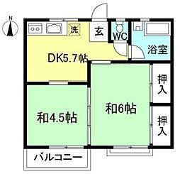 加藤荘[2階]の間取り