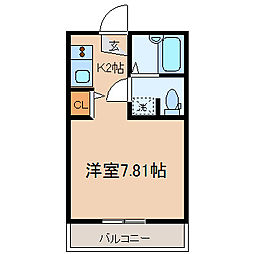 神奈川県横浜市保土ケ谷区神戸町の賃貸アパートの間取り