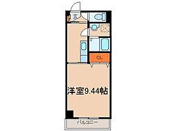 栃木県小山市城北2丁目の賃貸マンションの間取り