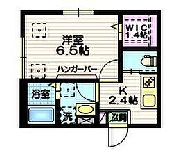 東急目黒線 大岡山駅 徒歩5分の賃貸マンション 1階1Kの間取り