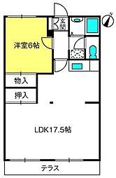 三橋グランハイム富士[D102号室]の間取り