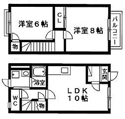 [テラスハウス] 滋賀県栗東市大橋5丁目 の賃貸【/】の間取り