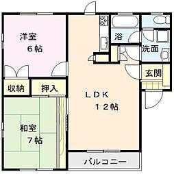 メゾン・ドゥ・コスモス3号館[205号室]の間取り