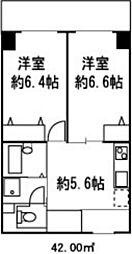 ドミール菊川[408号室]の間取り