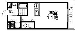 シャンテー御殿山2番館[2階]の間取り
