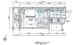 メインステージ板橋本町駅前II 7階1Kの間取り