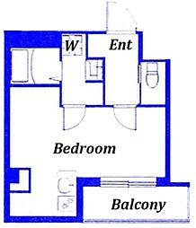 荒川区西尾久デザインアパートメント 2階ワンルームの間取り