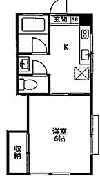 神木フラット[1階]の間取り