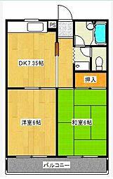 エステート武蔵野[3階]の間取り
