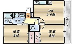 アベニューB[3階]の間取り
