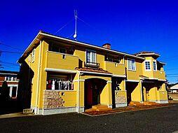 茨城県筑西市小川の賃貸アパートの外観
