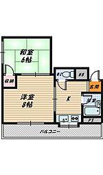パールハイツ楓[5階]の間取り