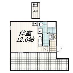THE・ROOM新検見川(ザ・ルームシンケミガワ)[421EX号室]の間取り