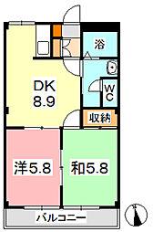 ニューエクセル三宅 D[103号室]の間取り