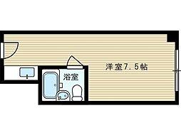 ユニゾーン新大阪[6階]の間取り