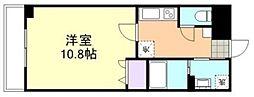 岡山県倉敷市新倉敷駅前1の賃貸マンションの間取り