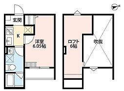 JR阪和線 堺市駅 徒歩6分の賃貸アパート 2階1Kの間取り