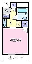 大阪府松原市阿保2丁目の賃貸マンションの間取り