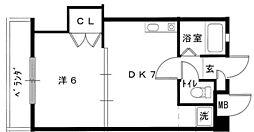 第2藤蔵ハイツ[4階]の間取り