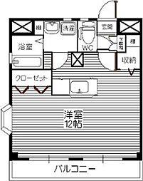 プレシャス筥松[201号室]の間取り