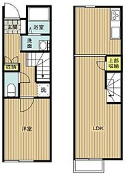 レオネクストpleasure47470 1階1LDKの間取り