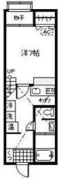 新潟県新発田市富塚町1丁目の賃貸アパートの間取り