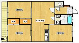 平塚第2マンション[103号室]の間取り