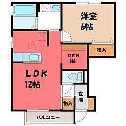 アマービレ マユミ[1階]の間取り