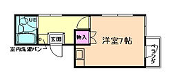 鶴之荘ハイツ[4階]の間取り