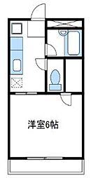 神奈川県伊勢原市伊勢原3丁目の賃貸マンションの間取り