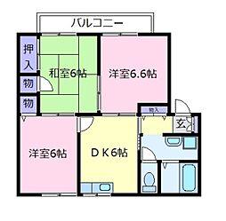 パル・タナカ[1階]の間取り