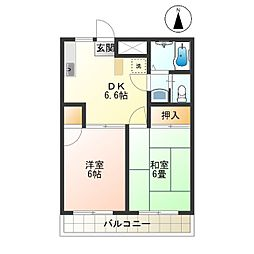 東京都調布市東つつじケ丘2丁目の賃貸マンションの間取り