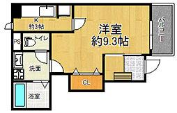 阪急宝塚本線 山本駅 徒歩9分の賃貸アパート 1階1Kの間取り