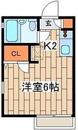 メゾンKAGAMI[1階]の間取り