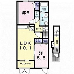 新潟県三条市直江町3丁目の賃貸アパートの間取り