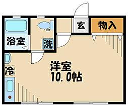 DOME-TAMA MM 1階ワンルームの間取り