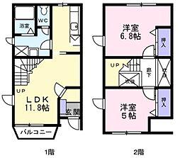 [テラスハウス] 神奈川県横浜市泉区中田西2丁目 の賃貸【/】の間取り