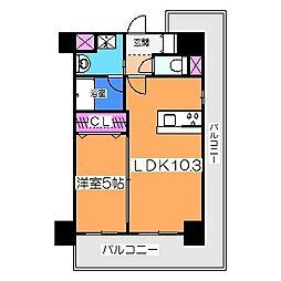 Osaka Metro御堂筋線 北花田駅 徒歩5分の賃貸マンション 4階1LDKの間取り