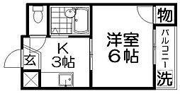 クワイエット香里[4階]の間取り