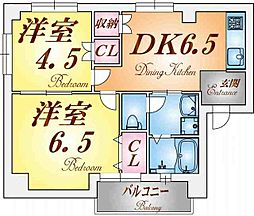 品川第5マンション[1階]の間取り