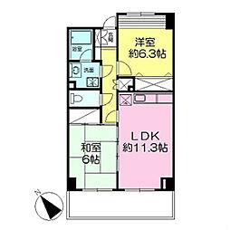 アプリ新横浜[404号室]の間取り