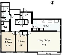 南青山ハウス[1階]の間取り